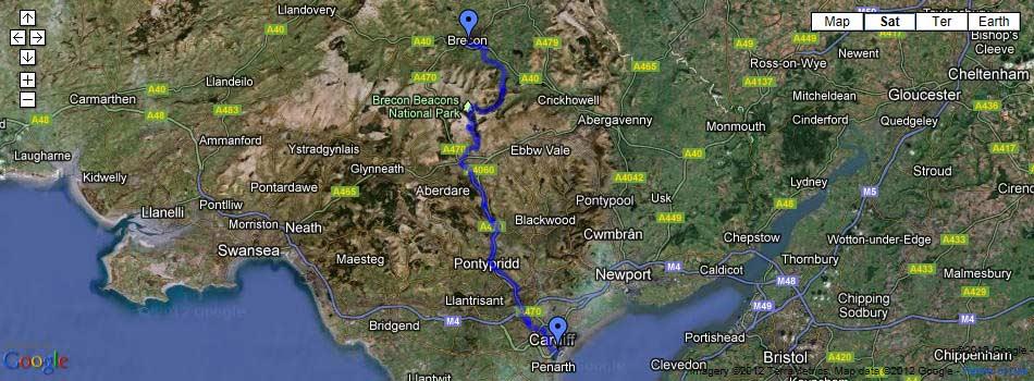 My Taff Trail – Map Uk Distance Calculator